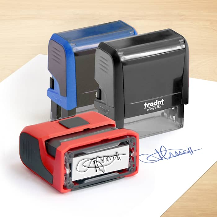 Self-Inking Signature Stamps