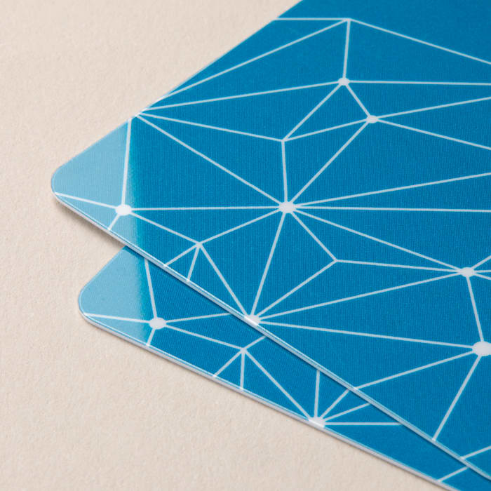 geometric design plastic business card