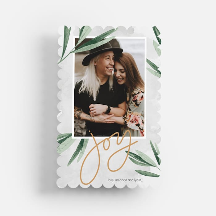 scalloped holiday cards