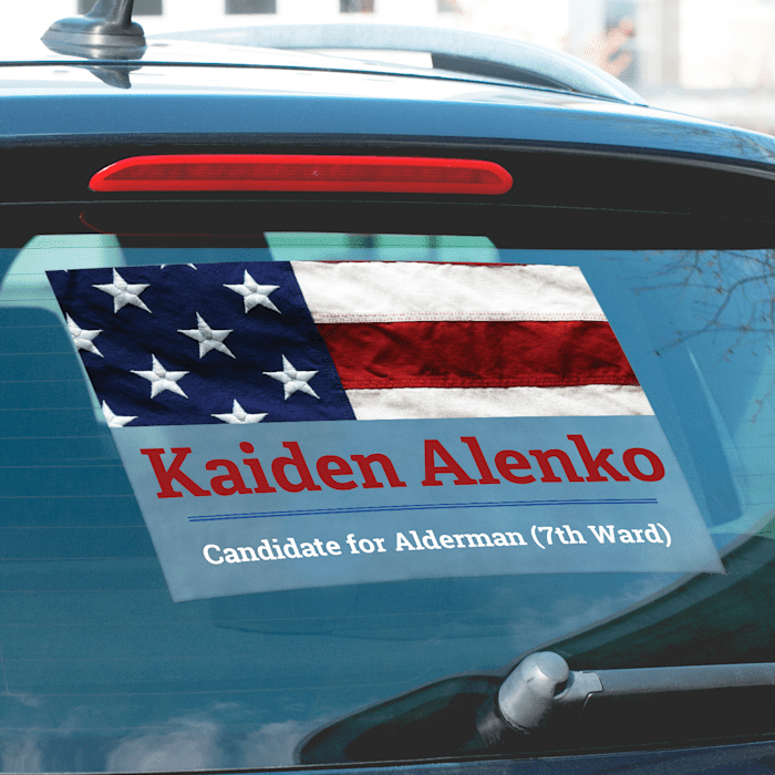 custom political car window decals