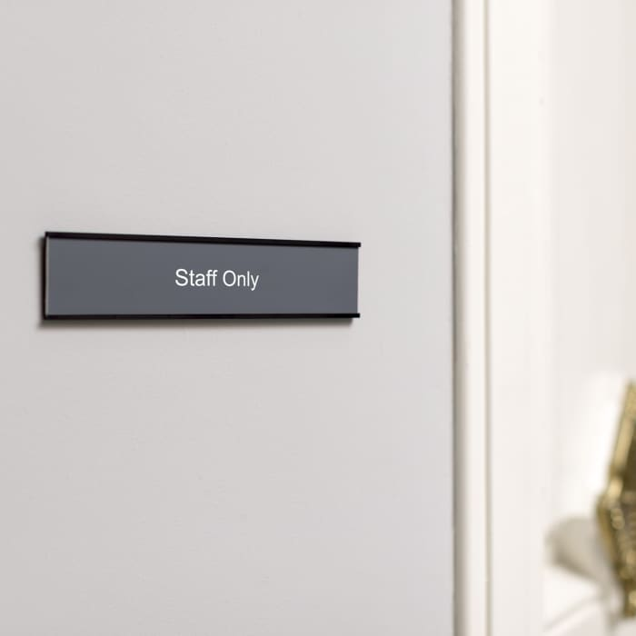 engraved office door sign