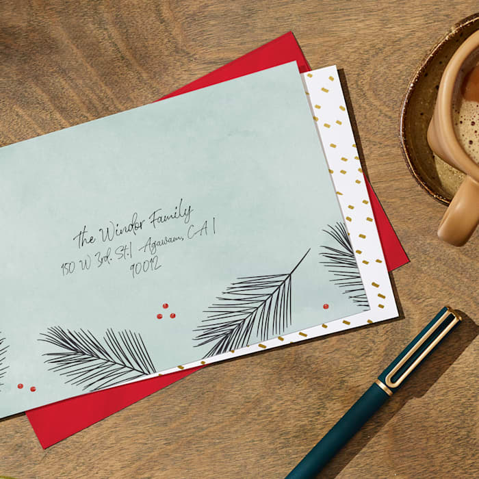 holiday envelope printing