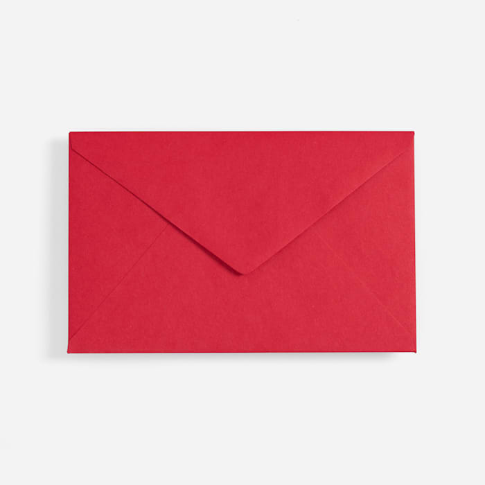 red custom envelope
