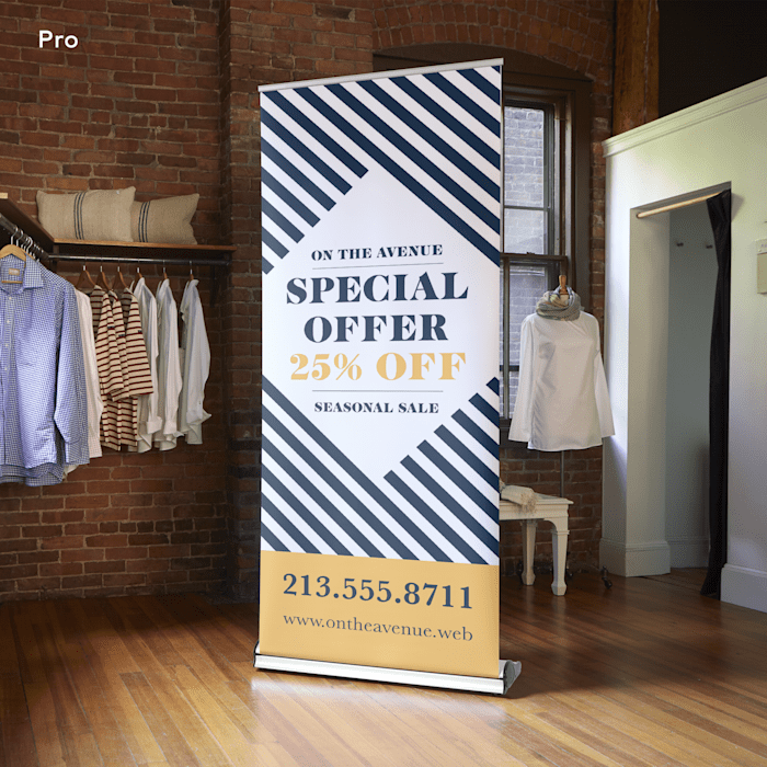 Rollup banner by Vistaprint