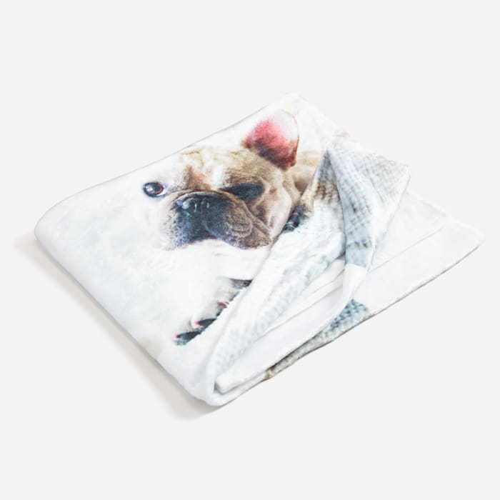custom fleece blanket with dog picture