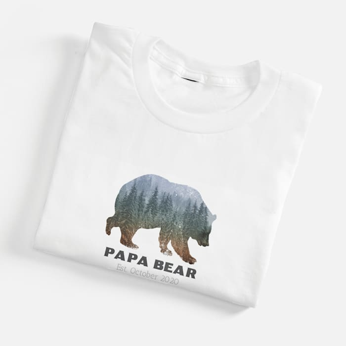 custom t shirt with bear design