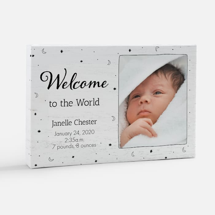 custom birth canvas artwork