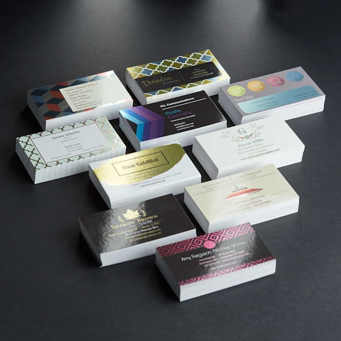 multiple standard business cards
