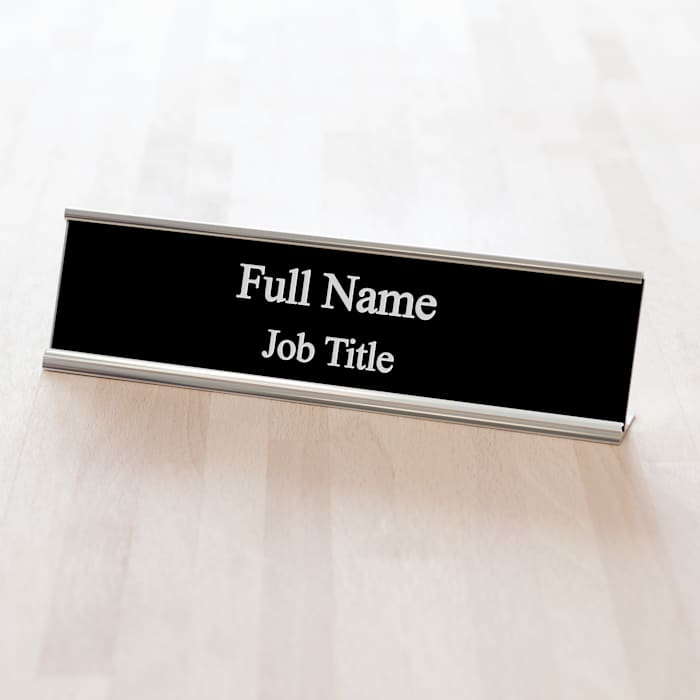 custom engraved nameplate for office desk