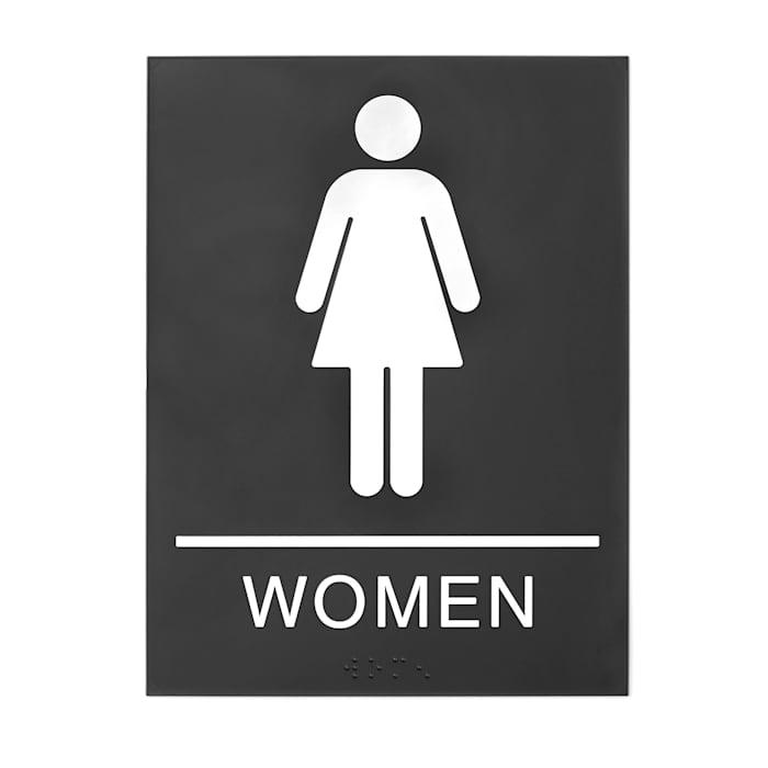 Ladies bathroom sign