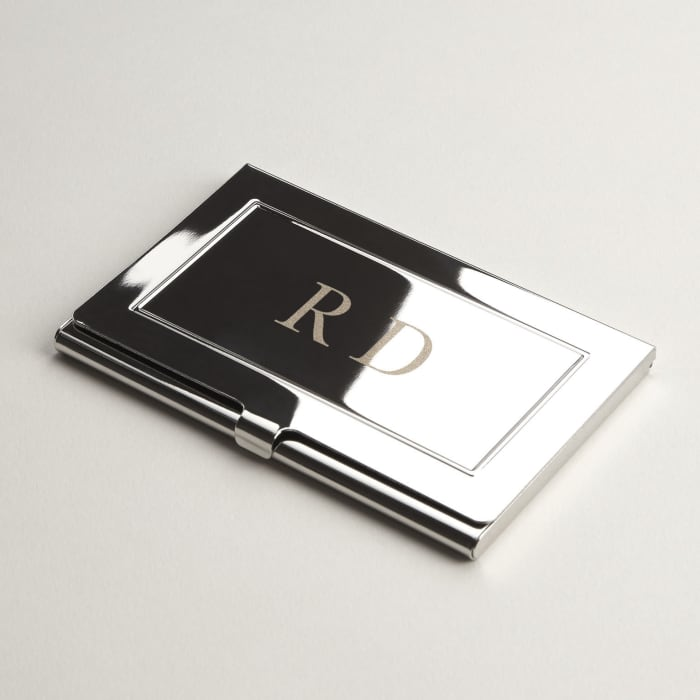 engraved business card holder