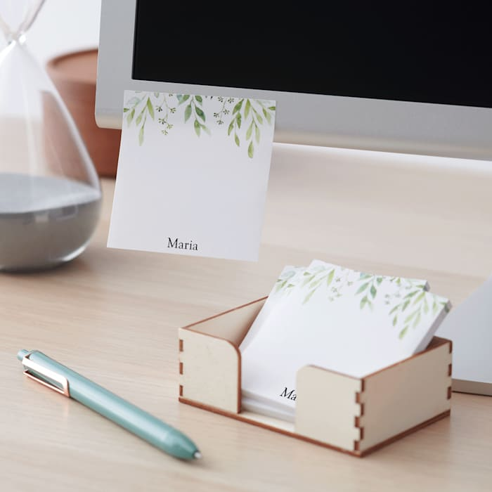 Personalized post it notes