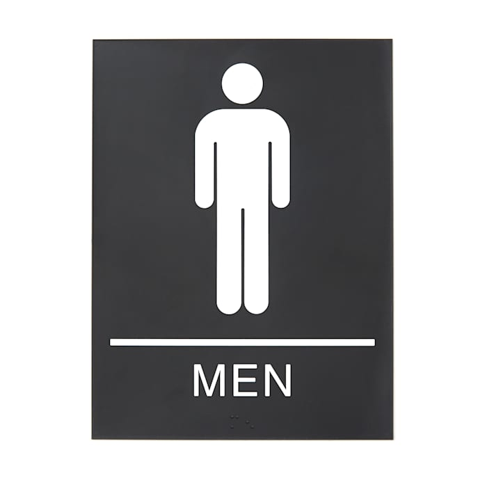 Men's restroom sign