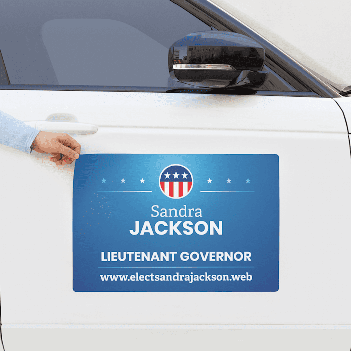 custom campaign car magnets