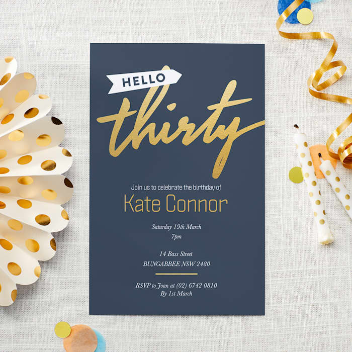 Custom Birthday Invitations with Vistaprint