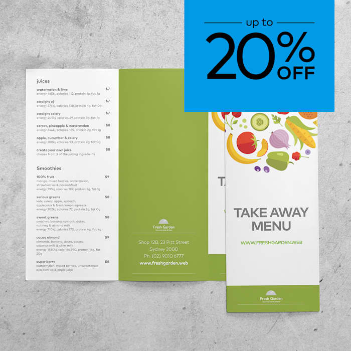 up to 20% off brochures