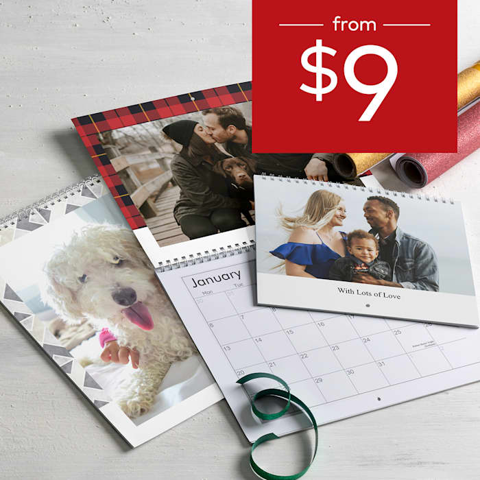 Wall calendars from $9