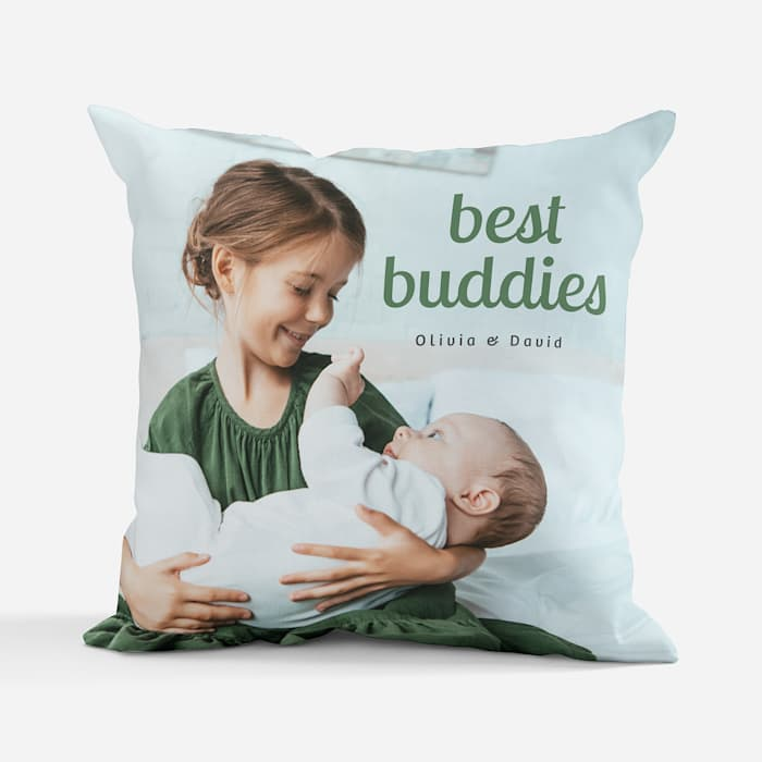 custom pillow with kids photo
