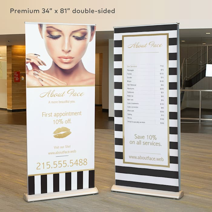 Premium double-sided retractable banner