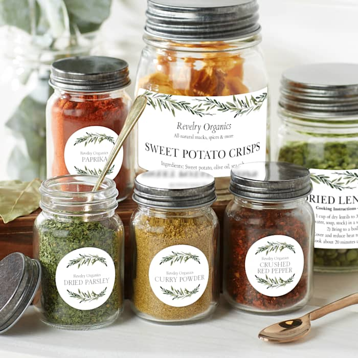 Custom product labels on jars