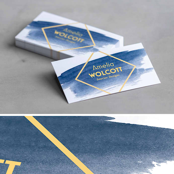 custom matte business card
