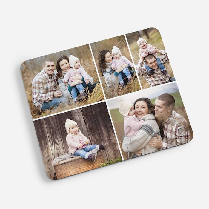 custom mouse pad with photo collage