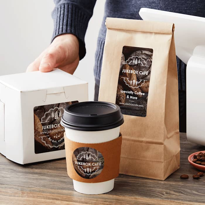 Product packaging with custom labels