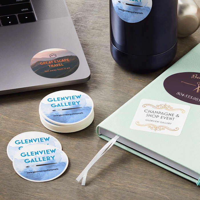 Personalized die cut stickers for branding