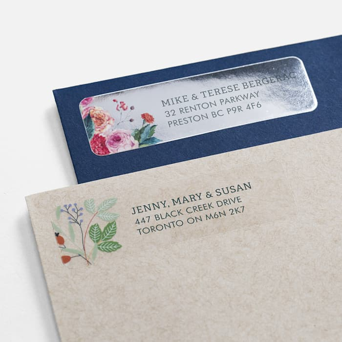 personalized address labels with flower design