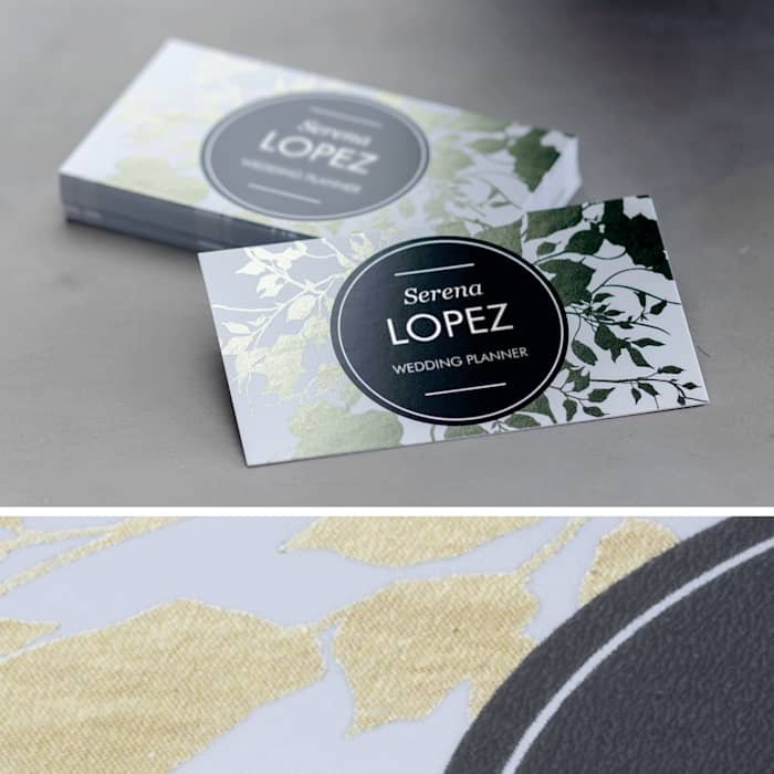 custom foil accent business card