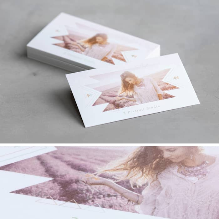 custom soft touch business card