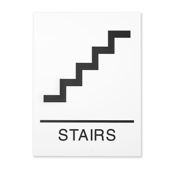 Stairway identification signs