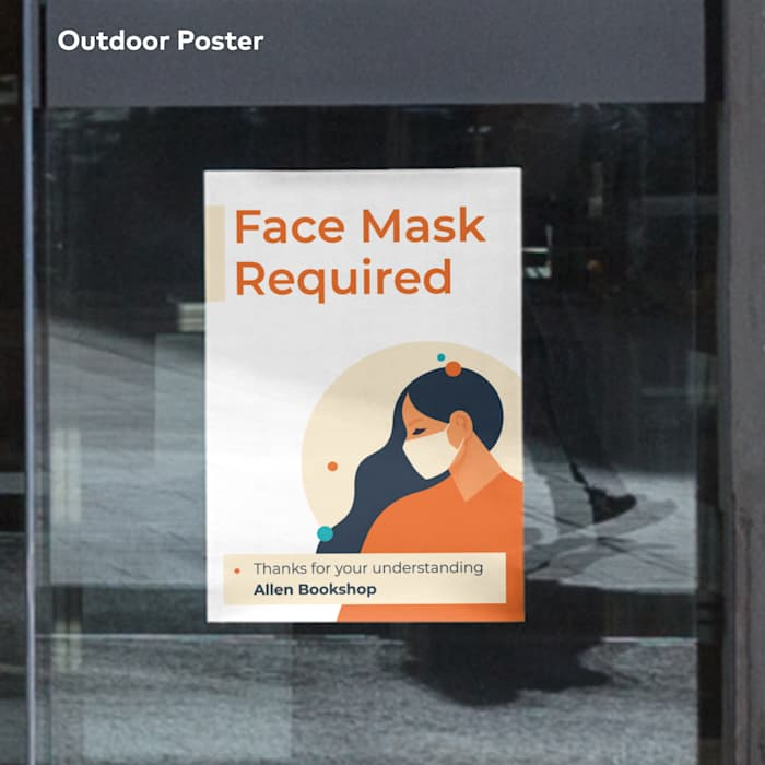 Face masks required poster canada