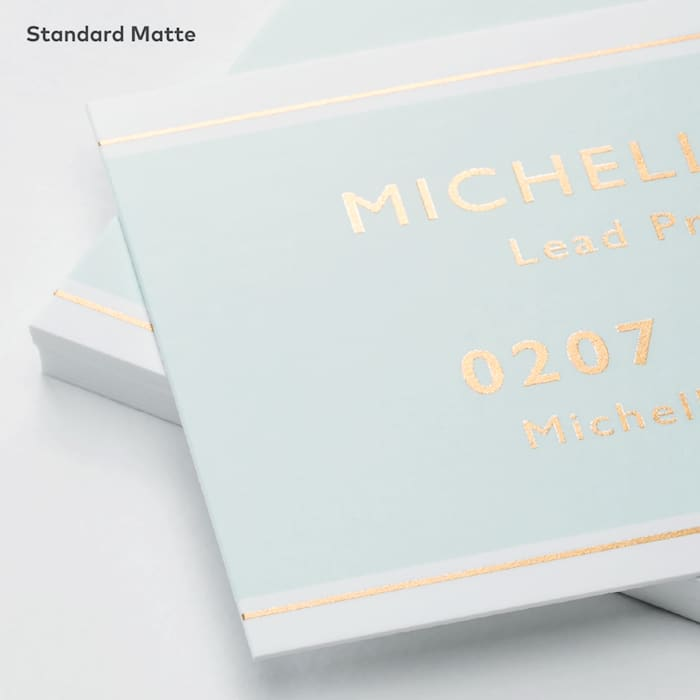 Metallic matte business cards at Vistaprint