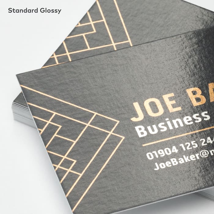 Metallic glossy business cards at Vistaprint
