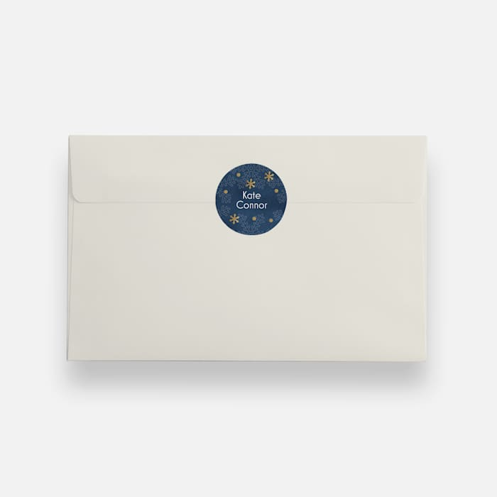 holiday envelope seal with holly design