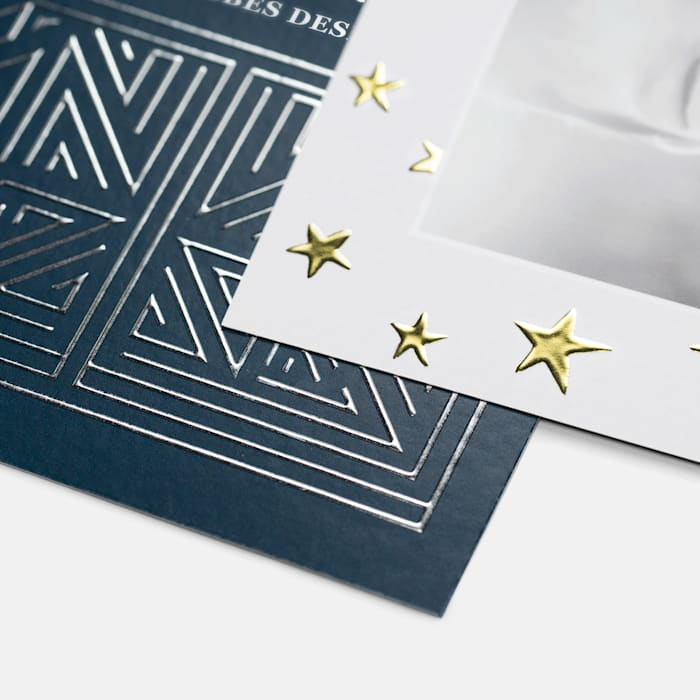 Gold foil christmas cards
