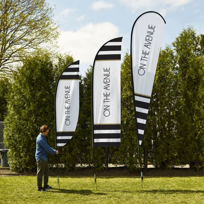 Teardrop flags, Advertising flags