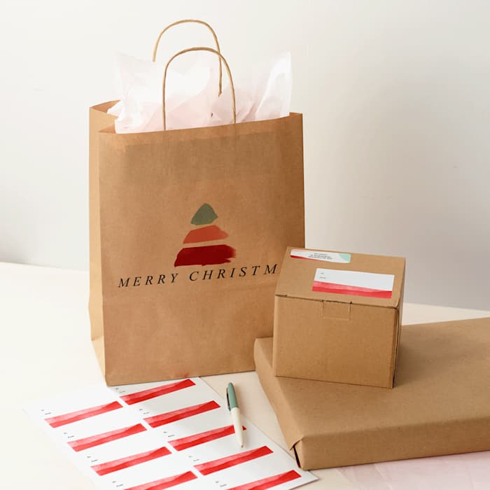 personalised paper bag with logo