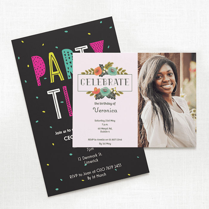 Print birthday party invitations