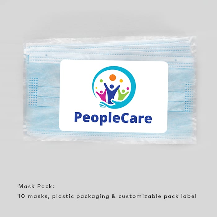 Disposable Face Mask Packs - Custom Label