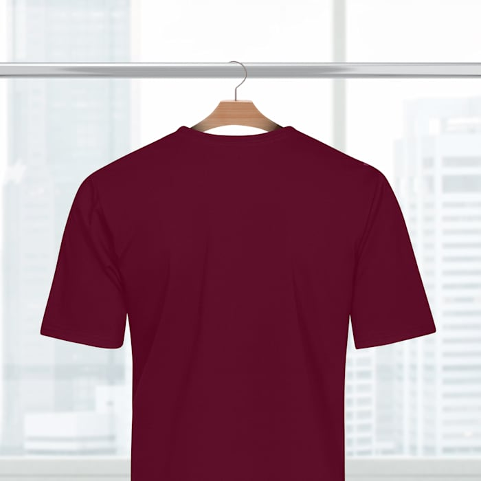 Polyester Tshirts - Maroon Back