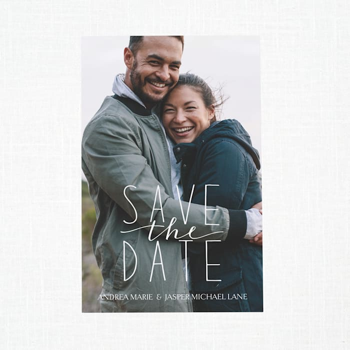 Custom Save the Date Cards with Vistaprint