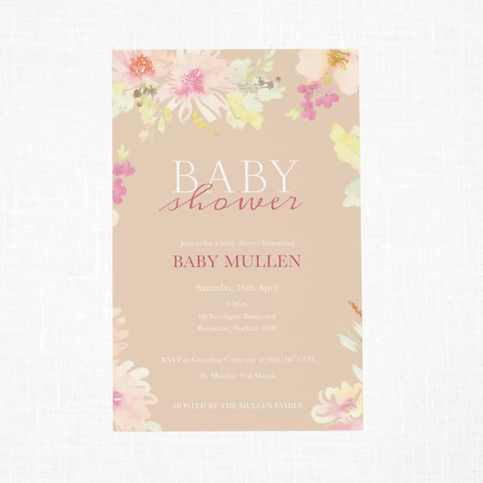 Custom Baby Shower Invitations with Vistaprint