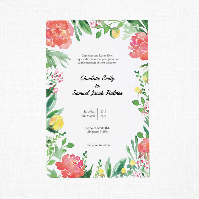 Custom Wedding Invitations with Vistaprint