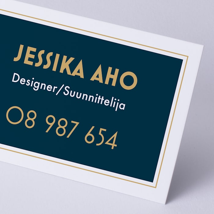 custom natural uncoated business card