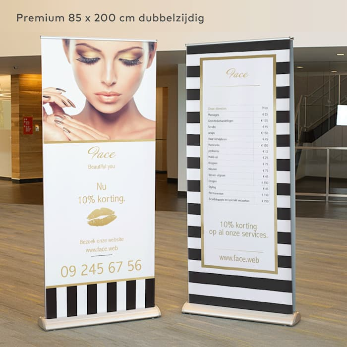 Brede premium roll-up banner