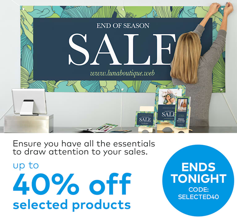 up to 40% off selected products