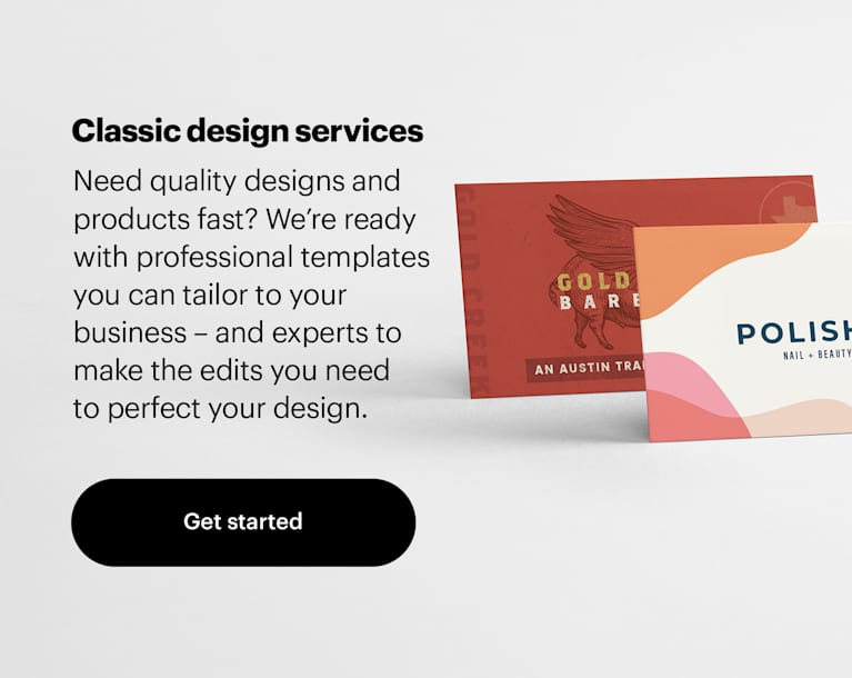 Vistaprint design services 2021 white banner