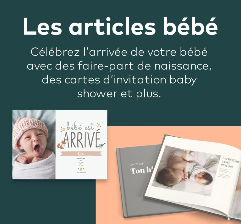 faire-part de naissance et cartes d'invitation baby shower